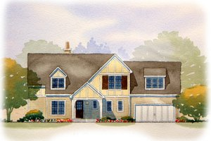 Tudor Exterior - Front Elevation Plan #901-70