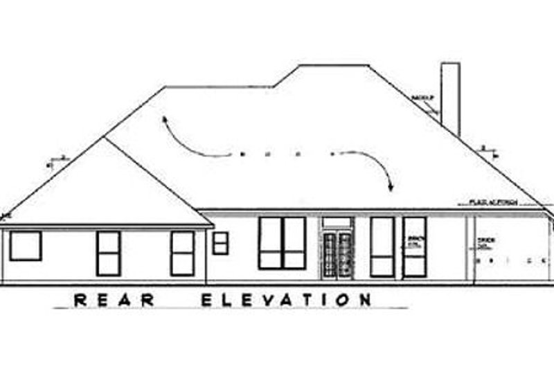 European Exterior - Rear Elevation Plan #62-111 - Houseplans.com