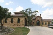 Mediterranean Style House Plan - 5 Beds 4 Baths 3411 Sq/Ft Plan #80-197 Exterior - Front Elevation