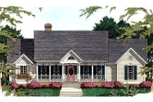 Southern Exterior - Front Elevation Plan #406-208