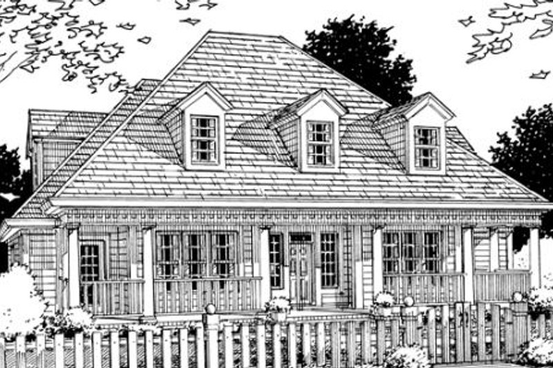 Farmhouse Exterior - Front Elevation Plan #20-331 - Houseplans.com