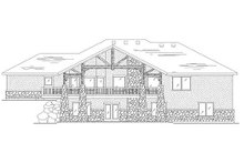 Architectural House Design - Traditional Exterior - Rear Elevation Plan #5-283