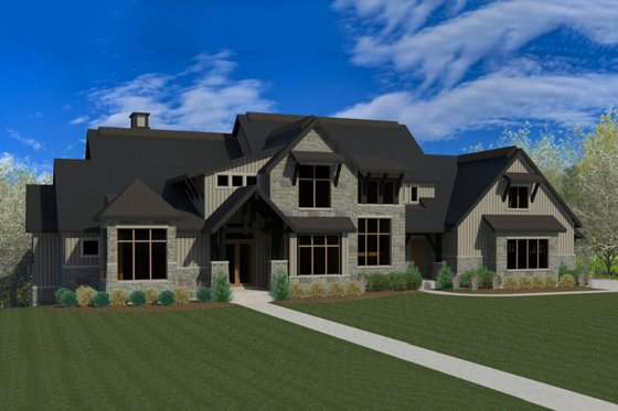 Craftsman Exterior - Front Elevation Plan #920-49