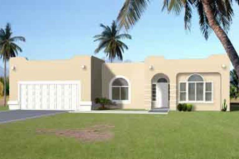 Adobe / Southwestern Style House Plan - 3 Beds 2 Baths 1975 Sq/Ft Plan #1-1391