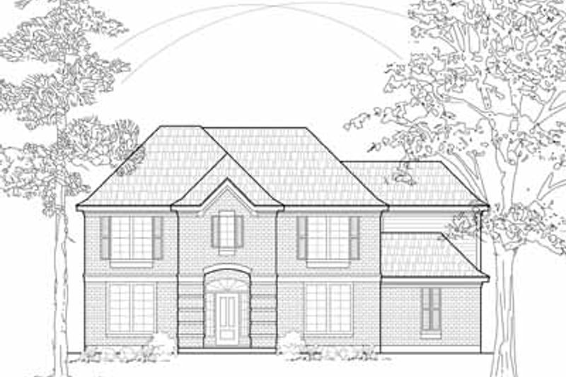 European Exterior - Front Elevation Plan #61-238 - Houseplans.com