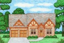 Dream House Plan - Tudor Exterior - Front Elevation Plan #413-867