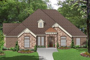 European Exterior - Front Elevation Plan #84-562