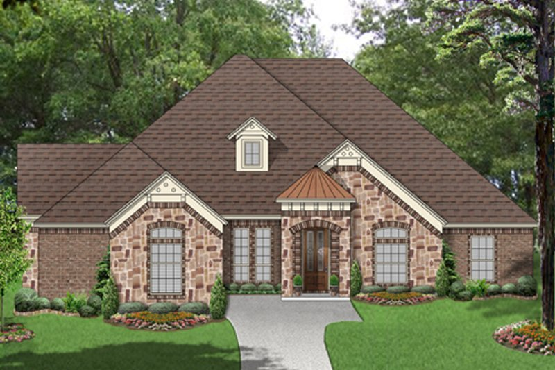 European Exterior - Front Elevation Plan #84-562 - Houseplans.com
