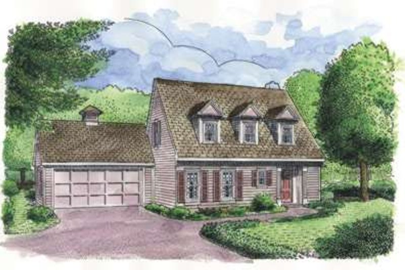 Colonial Exterior - Front Elevation Plan #410-225 - Houseplans.com