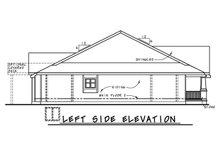 Home Plan Design - Left Side Elevation