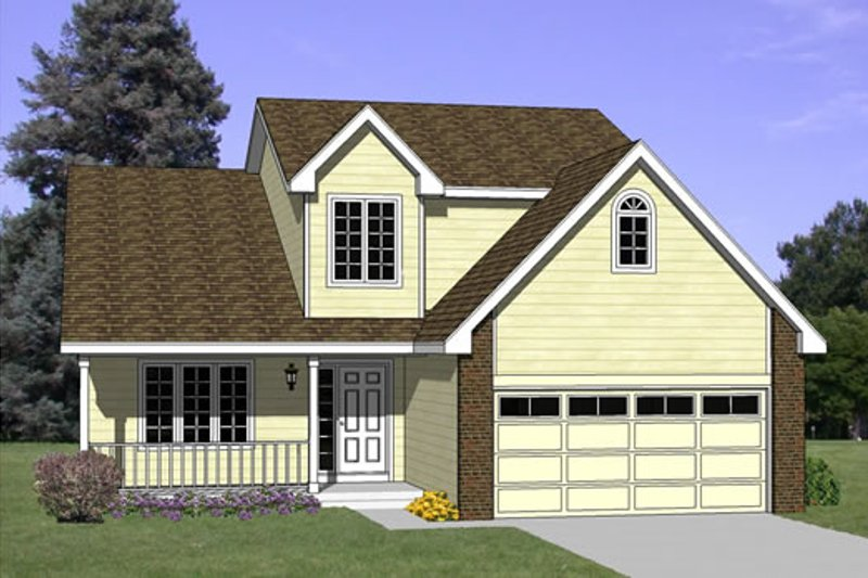 Traditional Style House Plan - 3 Beds 2.5 Baths 1691 Sq/Ft Plan #116-211 Exterior - Front Elevation