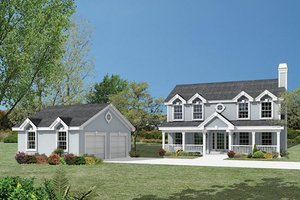 Country Exterior - Front Elevation Plan #57-336