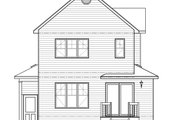 Country Style House Plan - 3 Beds 1.5 Baths 1347 Sq/Ft Plan #23-2119 Exterior - Rear Elevation