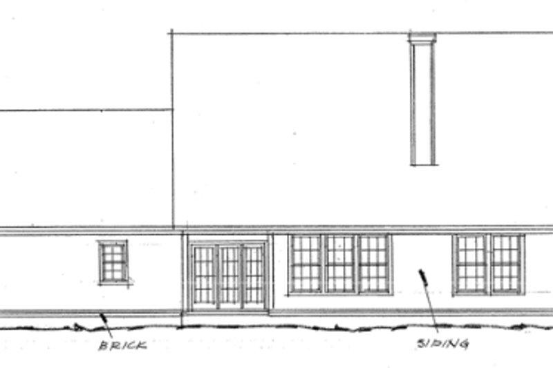 Traditional Exterior - Rear Elevation Plan #20-313 - Houseplans.com