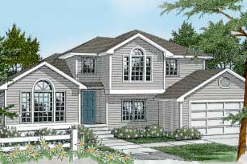 Traditional Style House Plan - 3 Beds 3 Baths 2111 Sq/Ft Plan #101-211 Exterior - Front Elevation