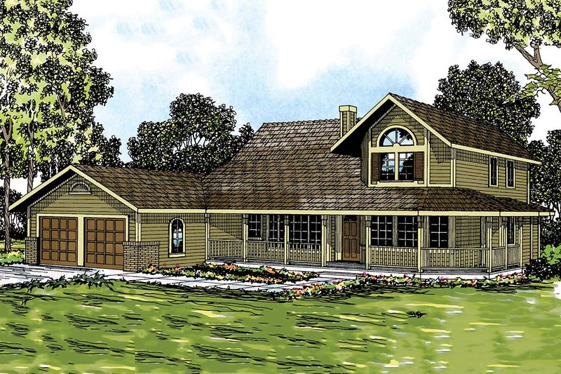Home Plan - Farmhouse Exterior - Front Elevation Plan #124-181