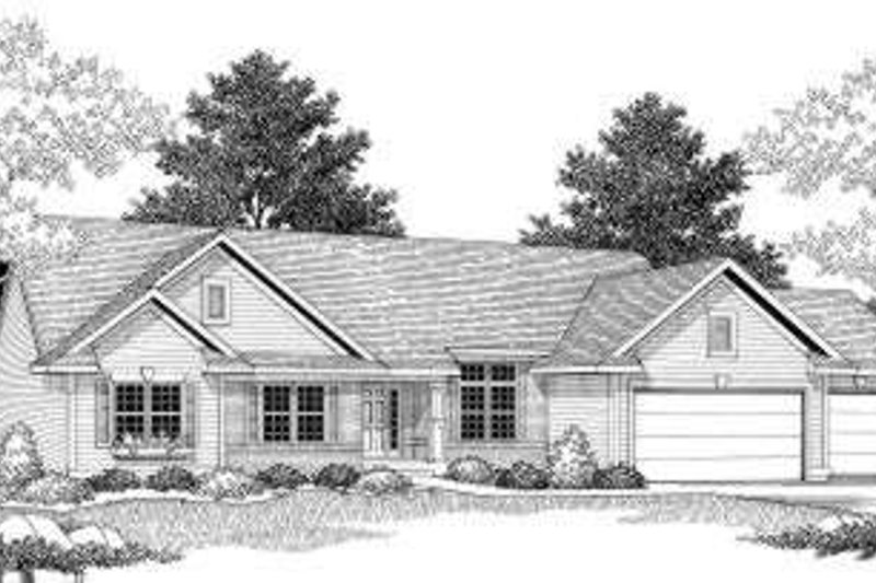 Dream House Plan - Ranch Exterior - Front Elevation Plan #70-592