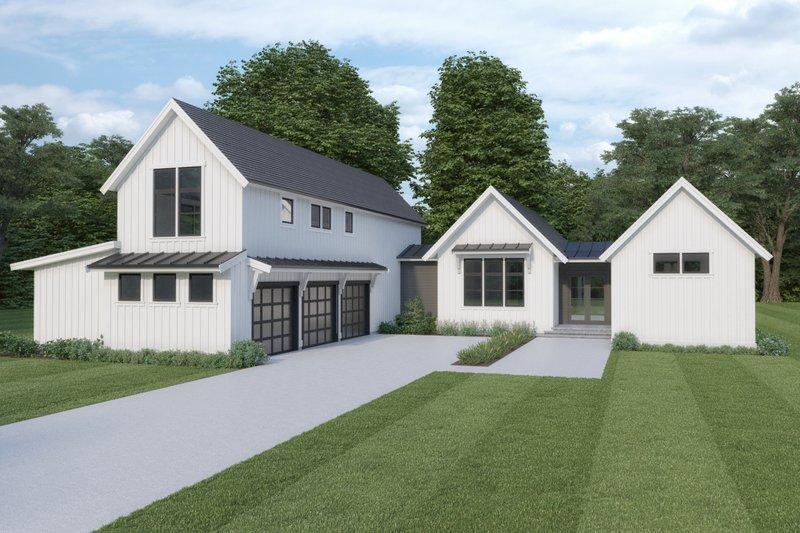 Home Plan - Farmhouse Exterior - Front Elevation Plan #1070-110