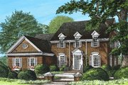 Colonial Style House Plan - 3 Beds 3 Baths 2784 Sq/Ft Plan #137-135 Exterior - Front Elevation