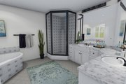 Farmhouse Style House Plan - 4 Beds 2.5 Baths 3356 Sq/Ft Plan #1060-1 Interior - Master Bathroom