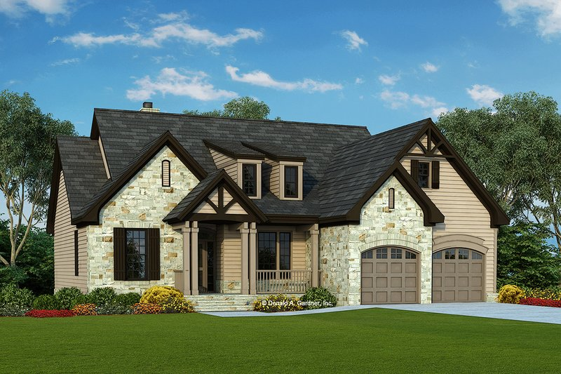 Ranch Exterior - Front Elevation Plan #929-645 - Houseplans.com