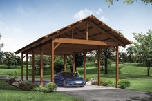 House Plan Design - Craftsman Exterior - Front Elevation Plan #124-1147