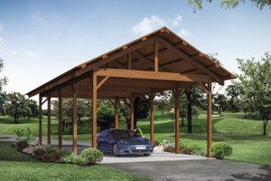 Craftsman Exterior - Front Elevation Plan #124-1147
