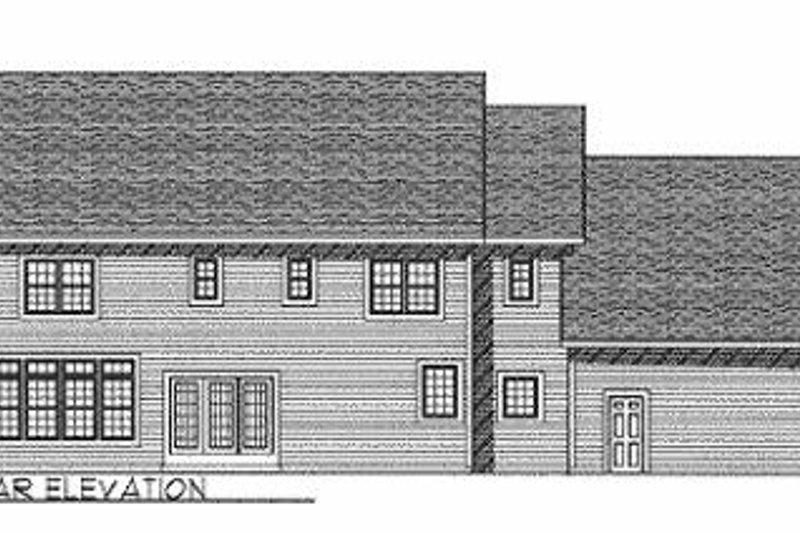 Colonial Exterior - Rear Elevation Plan #70-514 - Houseplans.com