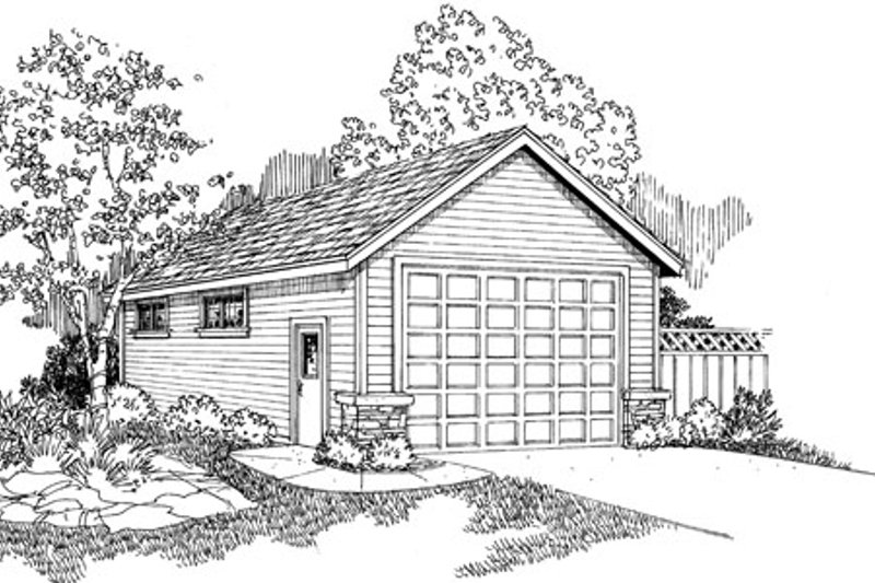 Country Exterior - Front Elevation Plan #124-787