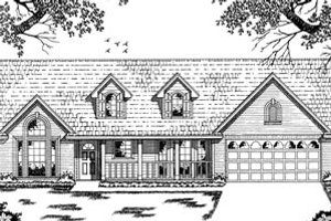 Country Exterior - Front Elevation Plan #42-107