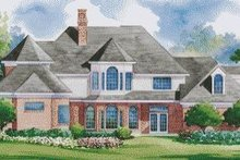 Dream House Plan - Traditional Exterior - Rear Elevation Plan #20-1142