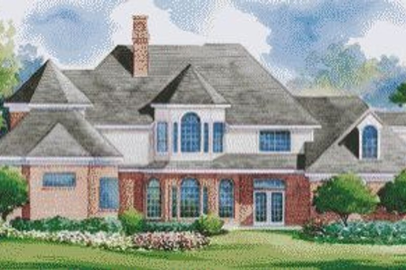 Traditional Exterior - Rear Elevation Plan #20-1142 - Houseplans.com