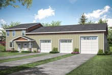 House Plan Design - Country Exterior - Front Elevation Plan #124-1178