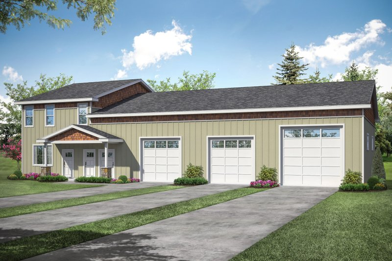 Home Plan - Country Exterior - Front Elevation Plan #124-1178