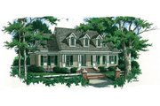 Country Style House Plan - 5 Beds 4.5 Baths 3259 Sq/Ft Plan #45-353 Exterior - Front Elevation