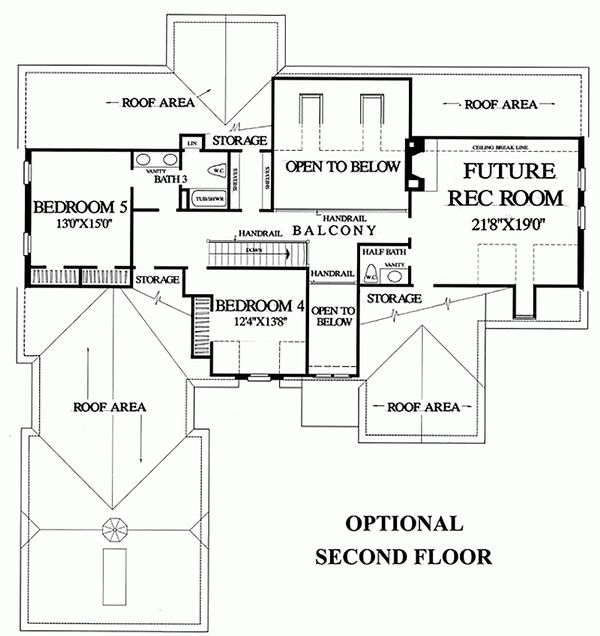 European Floor Plan - Upper Floor Plan Plan #137-227