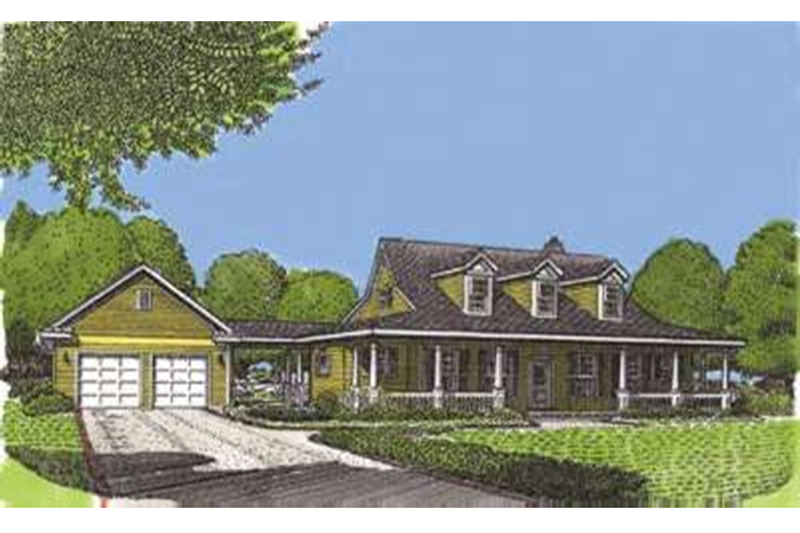 Country Exterior - Front Elevation Plan #410-120 - Houseplans.com