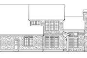 European Style House Plan - 4 Beds 3 Baths 1698 Sq/Ft Plan #48-320 Exterior - Rear Elevation