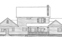 Country Exterior - Rear Elevation Plan #11-206