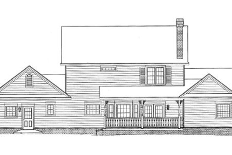 Country Exterior - Rear Elevation Plan #11-206 - Houseplans.com