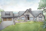 Traditional Style House Plan - 4 Beds 3.5 Baths 2967 Sq/Ft Plan #928-332 Exterior - Front Elevation