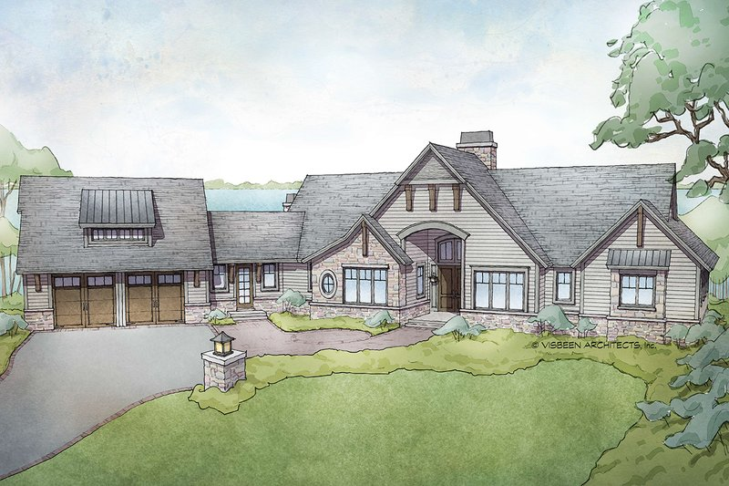 Architectural House Design - Traditional Exterior - Front Elevation Plan #928-332