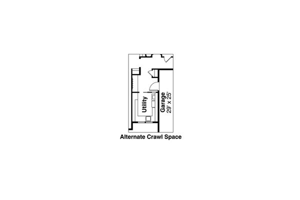 Craftsman Floor Plan - Other Floor Plan Plan #124-1024