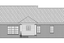 Home Plan - Traditional Exterior - Rear Elevation Plan #21-153