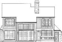 House Blueprint - Craftsman Exterior - Other Elevation Plan #72-125
