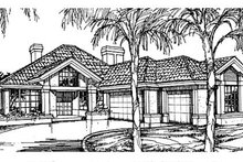 European Exterior - Front Elevation Plan #320-377