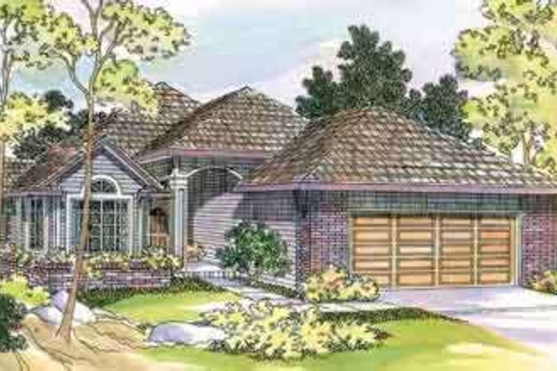 Ranch Exterior - Front Elevation Plan #124-448