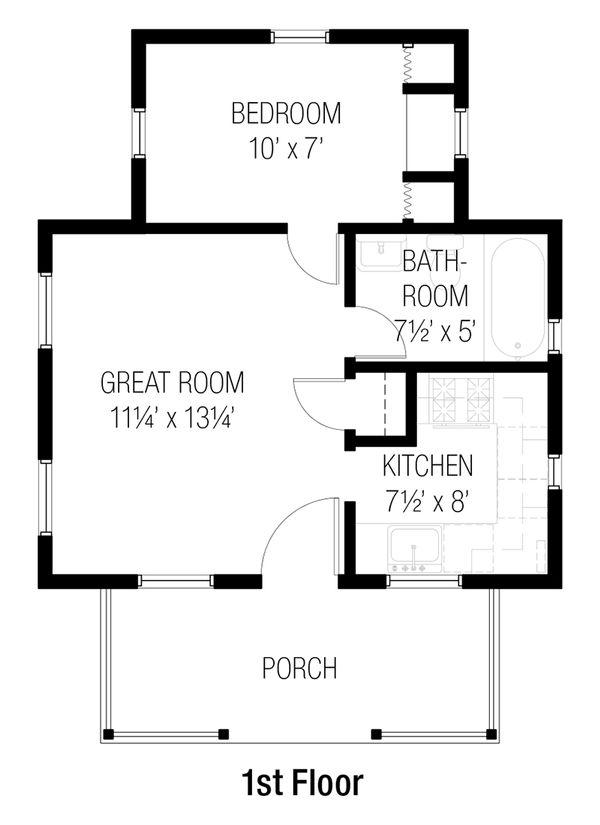Cottage Floor Plan - Main Floor Plan #915-12