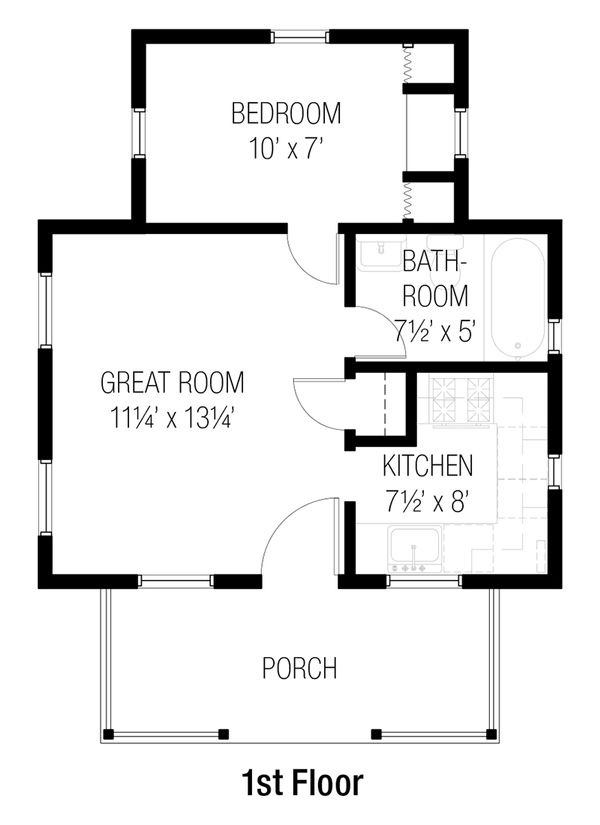 Cottage Floor Plan - Main Floor Plan Plan #915-12