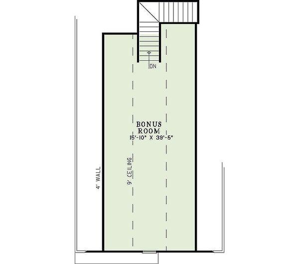 European Floor Plan - Upper Floor Plan Plan #17-2440
